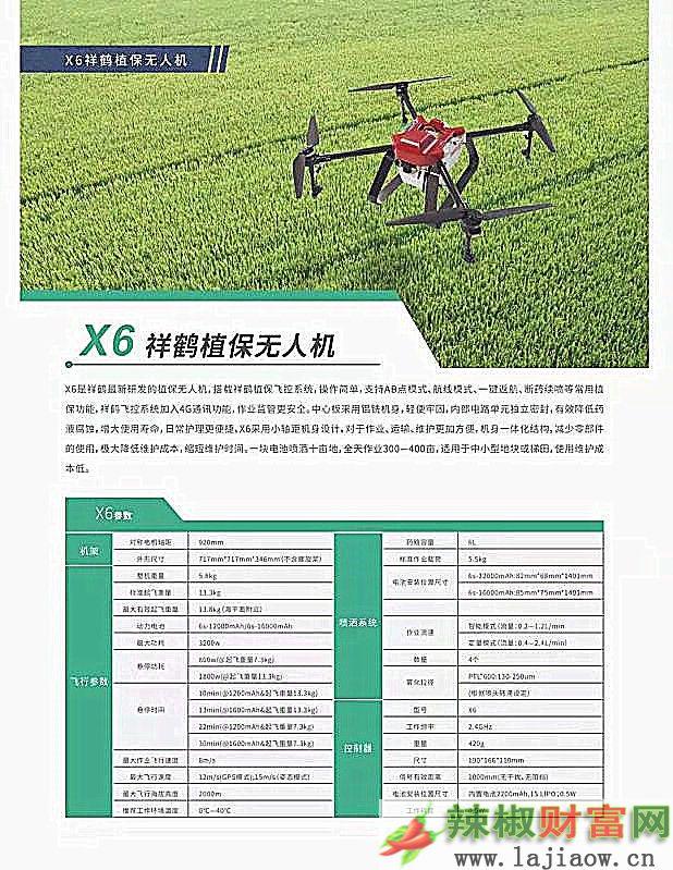 6公斤级植保无人机